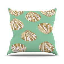 Scallop Shells by Rosie Brown Throw Pillow