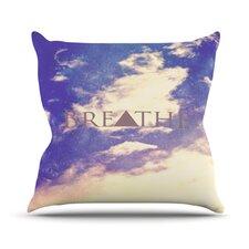 Breathe by Rachel Burbee Throw Pillow