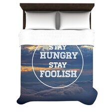 """""""Stay Hungry"""" Woven Comforter Duvet Cover"""