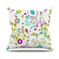 Bird Fantasy by Nicole Ketchum Throw Pillow