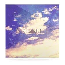 Breathe by Rachel Burbee Graphic Art Plaque
