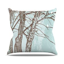 Winter Trees by Sam Posnick Throw Pillow