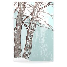 Winter Trees by Sam Posnick Graphic Art Plaque