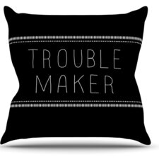 Trouble Maker by Skye Zambrana Throw Pillow