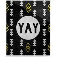 Yay by Skye Zambrana Graphic Art Plaque