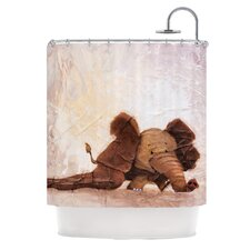 The Elephant with the Long Ears Shower Curtain