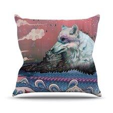 Lone Wolf by Mat Miller Throw Pillow