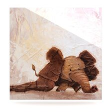 The Elephant with the Long Ears by Rachel Kokko Painting Print Plaque