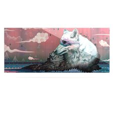 Lone Wolf by Mat Miller Graphic Art Plaque