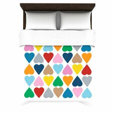 Diamond Hearts by Project M Woven Duvet Cover