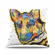 Floyd by Rebecca Fischer German Shepard Throw Pillow