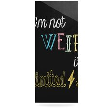 Weird by Skye Zambrana Textual Art Plaque