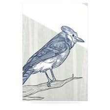 Jay by Sam Posnick Graphic Art Plaque in Blue and Gray