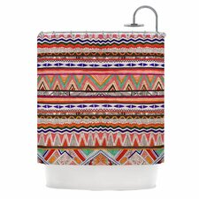 Native Tessellation Shower Curtain