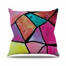 Stain Glass 3 by Theresa Giolzetti Throw Pillow
