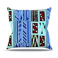 American Blanket Pattern Throw Pillow