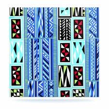 """American Blanket Pattern"" by Vikki Salmela Graphic Art Plaque"