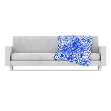 Bloom Blue for You Fleece Throw Blanket