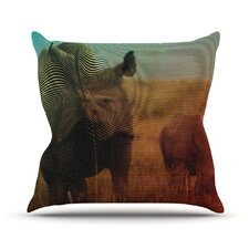 Abstract Rhino Throw Pillow