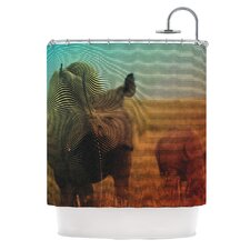 Abstract Rhino Shower Curtain