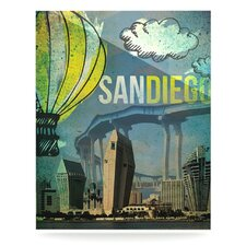 San Diego by iRuz33 Graphic Art Plaque
