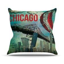 Chicago by iRuz33 Throw Pillow