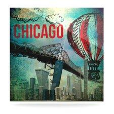Chicago by iRuz33 Vintage Advertisement Plaque