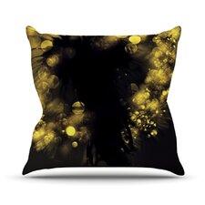 Moonlight Dandelion Throw Pillow