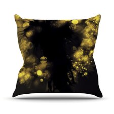 Moonlight Dandelion by Ingrid Beddoes Throw Pillow