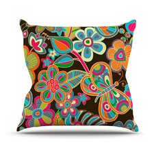 My Butterflies and Flowers by Julia Grifol Throw Pillow