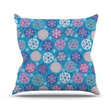 Floral Winter Throw Pillow
