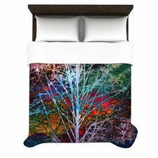 """Trees in the Night"" Woven Comforter Duvet Cover"