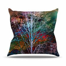 Trees in the Night by Sylvia Cook Throw Pillow