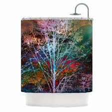 Trees in the Night Shower Curtain