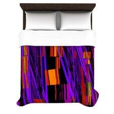 Drip Dye Cool Strid by Nina May Woven Duvet Cover