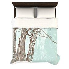 """""""Winter Trees"""" Woven Comforter Duvet Cover"""