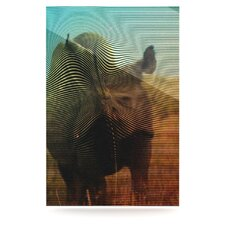 Abstract Rhino by Danny Ivan Graphic Art Plaque