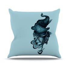 Elephant Guitar II Throw Pillow