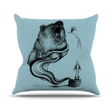 Hot Tub Hunter II by Graham Curran Throw Pillow