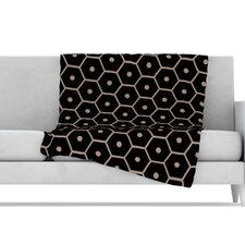 Tiled Mono Throw Blanket