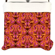 """""""Intertwined Magenta"""" Woven Comforter Duvet Cover"""