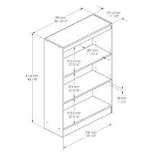 """Axess 3 Shelf 45"""" Standard Bookcase"""