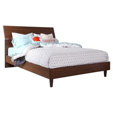 Olly Mid-Century Modern Queen Panel Bed