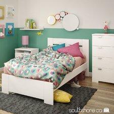 Reevo Twin Panel Customizable Bedroom Set