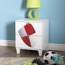 Andy 2 Drawer Nightstand