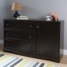 Savannah 3 Drawer Combo Dresser