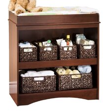 Peak-a-Boo Changing Table in Royal Cherry