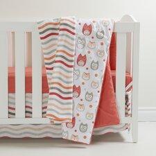 Coral Owls 4 Piece Crib Bedding Set