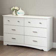 Tiara 6 Drawer Double Dresser