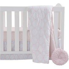 Pink 4 Piece Crib Bedding Set
